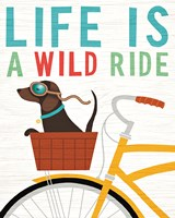 Beach Bums Dachshund Bicycle I Life Fine Art Print