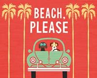 Beach Bums Beetle I Fine Art Print