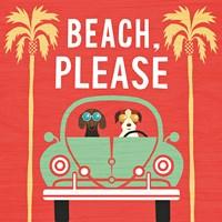 Beach Bums Beetle I Square Framed Print