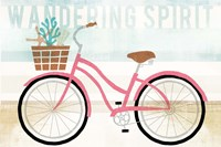 Beach Cruiser Girls I Fine Art Print