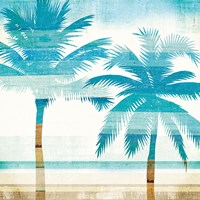 Beachscape Palms III Fine Art Print