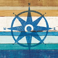 Beachscape IV Compass Fine Art Print