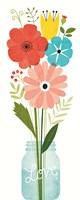 Seaside Bouquet VI Mason Jar Fine Art Print