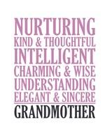 Adjectives for Grandma Fine Art Print