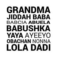 Grandma Various languages Fine Art Print