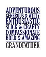 Adjectives for Grandpa Fine Art Print