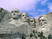 View of Mount Rushmore National Monument Presidential Faces, South Dakota Fine Art Print