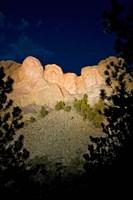 Mount Rushmore National Memorial Lit Up, South Dakota Fine Art Print