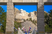 Entrance to Mount Rushmore National Memorial, South Dakota Fine Art Print