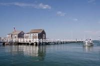 Straight Wharf water taxi, Nantucket, Massachusetts Fine Art Print