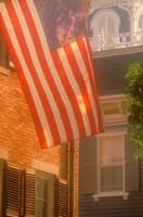 Massachusetts, Nantucket Island, US flag Fine Art Print