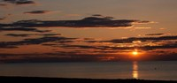 Sunset over the ocean, Jetties Beach, Nantucket, Massachusetts Fine Art Print