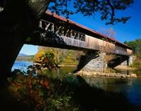 New Hampshire, Blair Bridge, Pemigewasset River Fine Art Print