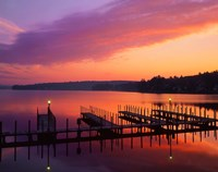 New Hampshire Dock and Lake Winnipesaukee Fine Art Print