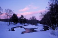 Winter from Bridge on Lee-Hook Road, Wild and Scenic River, New Hampshire Fine Art Print
