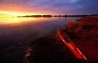 Kayak and Sunrise in Little Harbor in Rye, New Hampshire Fine Art Print