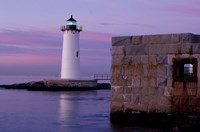 Fort Constitution, State Historic Site, Portsmouth Harbor Lighthouse, New Hampshire Fine Art Print