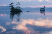 Dawn on Lake Winnepesauke, Moultonboro Neck, Moultonboro, New Hampshire Fine Art Print