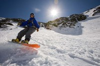 Snowboarder in Tuckerman Ravine, White Mountains National Forest, New Hampshire Fine Art Print