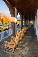Front Porch of the Hanover Inn, Dartmouth College Green, Hanover, New Hampshire Fine Art Print