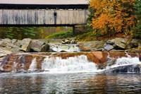 Covered bridge over Wild Ammonoosuc River, New Hampshire Fine Art Print