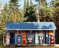 Gas station, New Hampshire Fine Art Print
