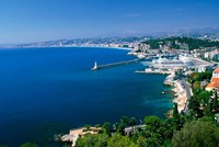Aerial View of the Port, Nice, France Fine Art Print