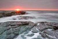 Sunrise near Brenton Point State Park, Newport, Rhode Island Fine Art Print