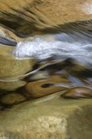 New Hampshire Abstract design formed by rock and rushing water of the Swift River, White Mountain NF Fine Art Print