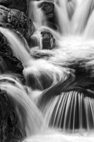 New Hampshire. Black and White image of waterfall on the Swift River, Rocky Gorge, White Mountain NF Fine Art Print