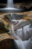 New Hampshire, White Mountains National Forest. Detail of Sabbaday Falls. Fine Art Print