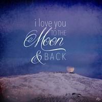 I Love you to the Moon Fine Art Print