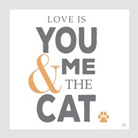 You Me and the Cat Fine Art Print