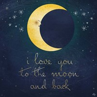 I Love You To The Moon 1 Fine Art Print