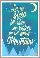 She Will Move Mountains 2 Fine Art Print