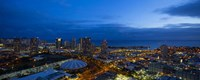 Downtown Honolulu at Night, Oahu, Hawaii Fine Art Print