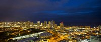 Downtown Honolulu Lit-Up at Night, Oahu, Hawaii Fine Art Print