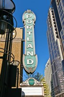 Portland Landmark Sign, Portland, Oregon Fine Art Print