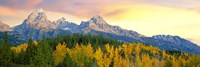 Sunrise Over Mountain Range, Grand Teton National Park, Wyoming Fine Art Print