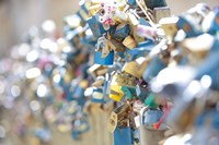 Abundance of Love Padlocks on Railings, Prague Fine Art Print