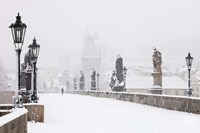 Charles Bridge in Winter, Prague Fine Art Print