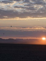 Hot Air Balloons at Dusk, Namib-Naukluft National Park, Namibia Fine Art Print