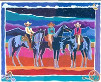 Three Cowgirls Fine Art Print