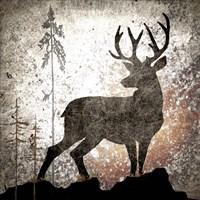 Calling Deer Framed Print