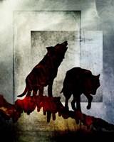 Pair Of Wolves Fine Art Print