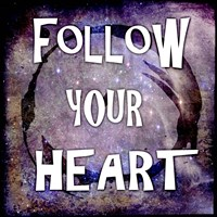 Cosmic - Follow Your Heart Framed Print
