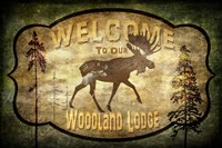 Welcome - Lodge Moose Fine Art Print