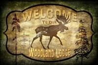 Welcome - Lodge Moose Fine Art Print