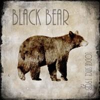 Moose Lodge 2 - Black Bear Framed Print
