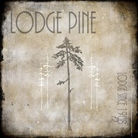 Moose Lodge 2 - Lodge Pole 3 Fine Art Print